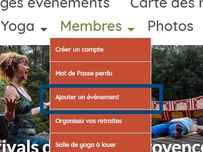 Comment se connecter (une fois enregistré !) sur Yoga En Provence ?