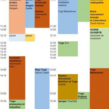 Programme dimanche Festival yoga Forcalquier